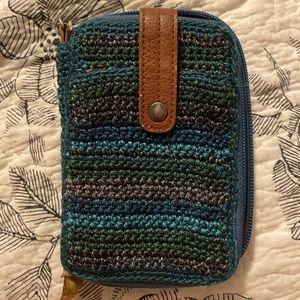 Woven wallet with leather interior THE SAK